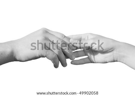 Hand in hand - stock photo