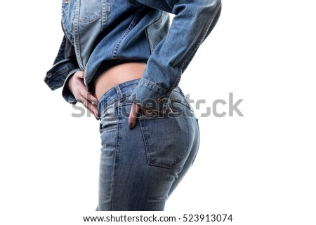 Hand in jeans pocket
