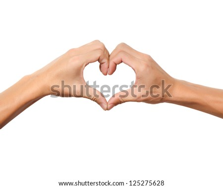 hand in love shape