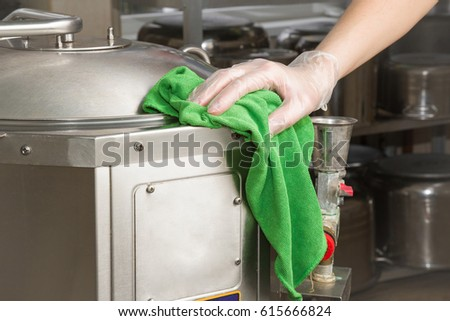 Hand Protective Glove Rag Cleaning Kitchen Stock Photo (Royalty Free ...