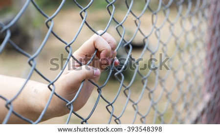 hand in the cage