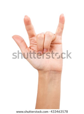 Hand isolated on a white background clipping path