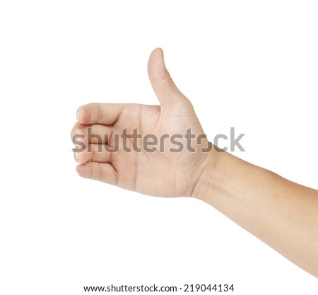 Hand isolated on white background - stock photo