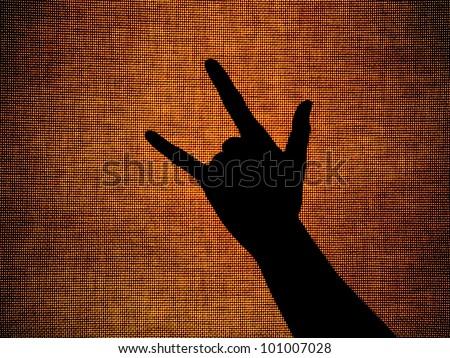 hand language i love you - stock photo
