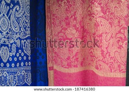 hand made best thai silk - stock photo