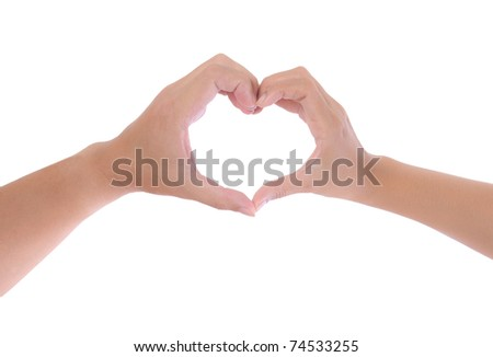 hand made heart isolated