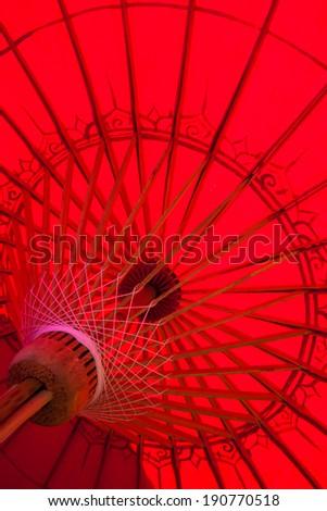 Hand Made Umbrella - Chiang Mai, Thailand - stock photo