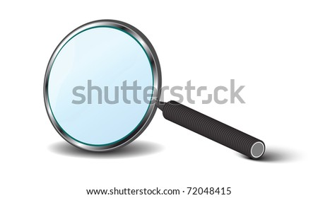 hand magnifier isolated