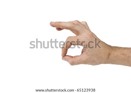 hand making sign Ok isolated on white background