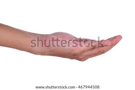 hand man isolated on white background.