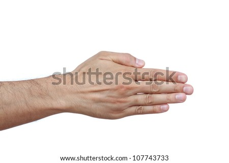 Hand of a caucasian male