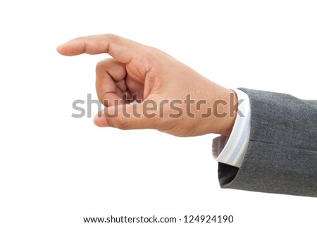 Hand of Business man isolated on white background