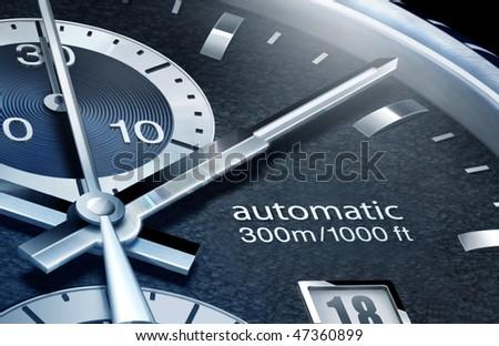 hand of clock - stock photo