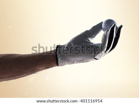 Hand of Golfer - stock photo