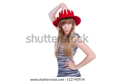 hand on the hat like octopus
