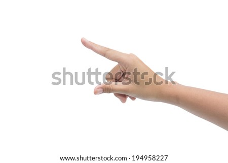 Hand on the isolated background