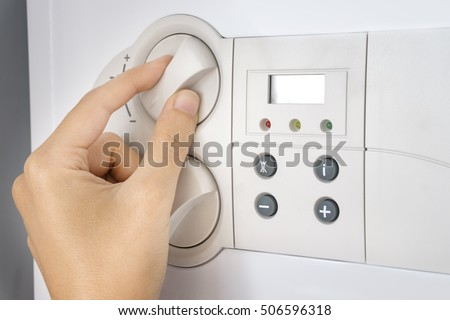 Hand Operating Central Heating Boiler