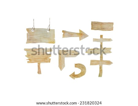 Hand paint watercolor wood arrow pattern. (Can be used as texture for cards, invitations, DIY projects, web sites or for any other design)  - stock photo