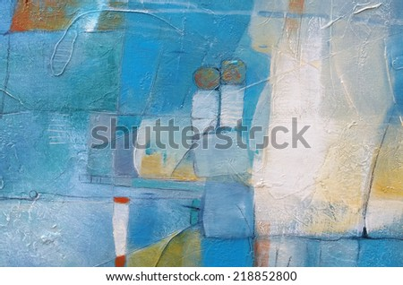 Hand painted abstract grunge background - brush strokes on paper with space for text. - stock photo