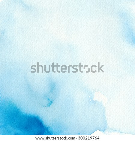 Hand painted abstract watercolor background. Watercolor wash. - stock photo