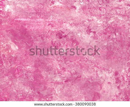 Hand painted acrylic background. Abstract texture. Marble texture. Pink texture. Canvas. - stock photo