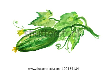 Hand Painted Cucumber