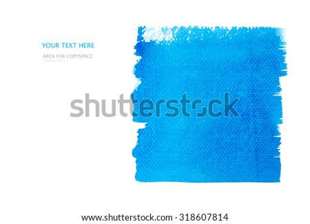 Hand painted of watercolor brush background on white area for copy space with clipping path. - stock photo