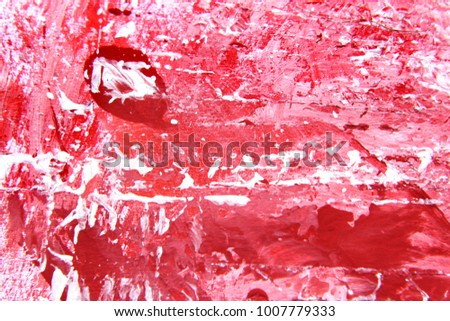Hand painted Red and White Abstract Background; Suitable for web design patterns and textures