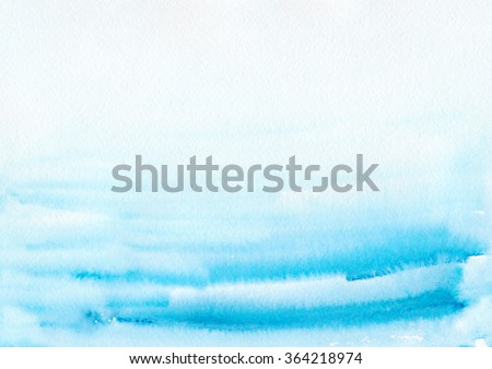 Hand painted watercolor background. Watercolor wash. Abstract painting. - stock photo