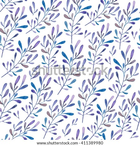 Hand painted watercolor seamless floral pattern.Seamless pattern can be used for wallpaper, pattern fills, web page background, surface textures - stock photo