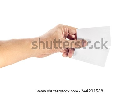 hand pick a card - stock photo