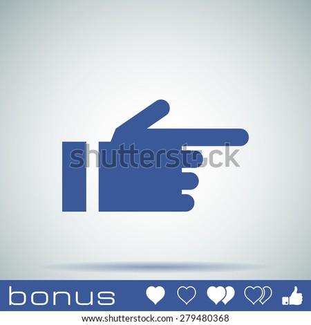 hand pointing finger icon - stock photo