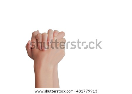 hand praying isolated background of christian religion