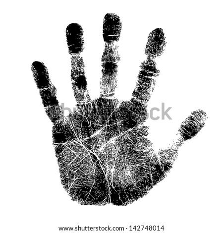 Hand print - stock photo