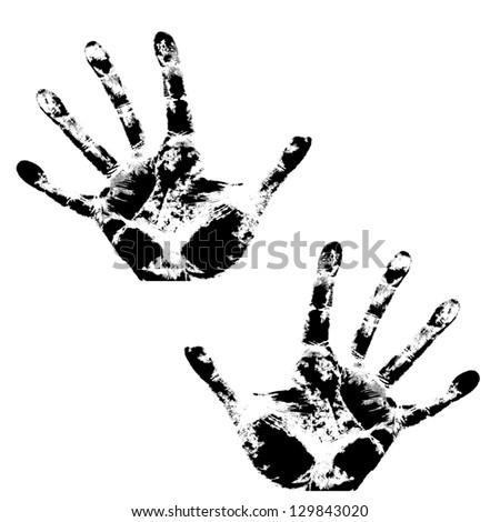 Hand print, skin texture pattern,  illustration. - stock photo