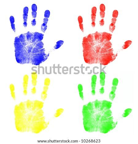 Hand Prints - stock photo