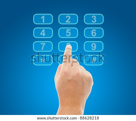 Hand push telephone buttons