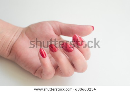 Hand Red lacquer