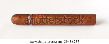 Hand Rolled Cuban Cigar - stock photo