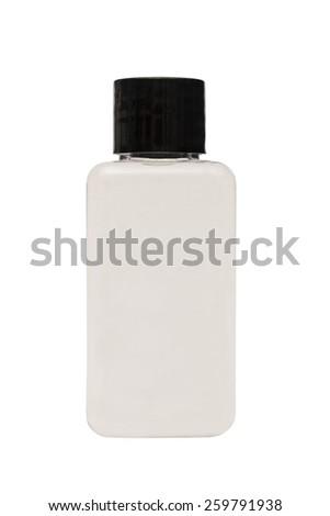 Hand sanitizer gel pump dispenser isolated on white background - stock photo