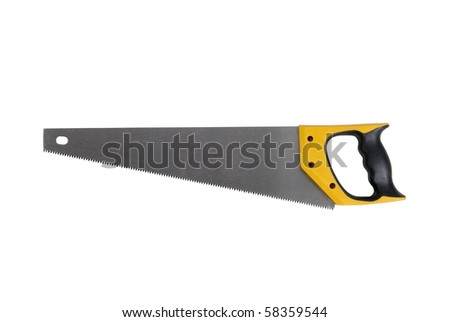 Hand Saw-hardened Teeth isolated over white background