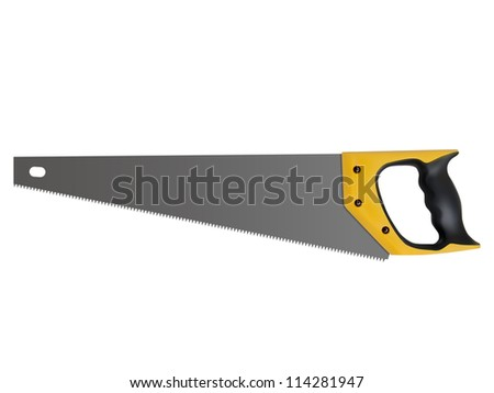 hand saw isolated on a white background