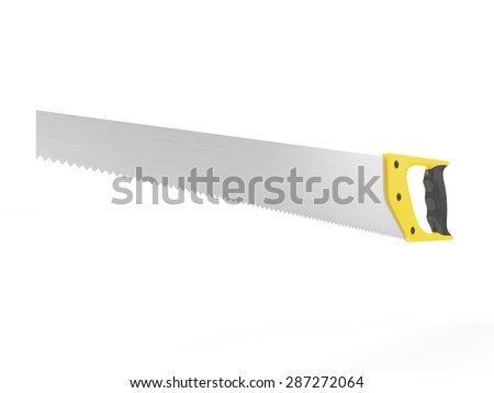 Hand Saw isolated on white background