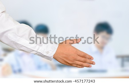Hand shacking concept,Business concept.