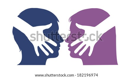 Hand shake between man and woman - stock photo