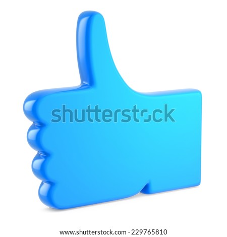 Hand Shaped mouse Cursor thumb up like - stock photo