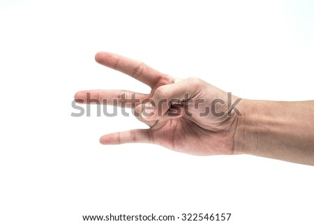 Hand Show 3 fingers