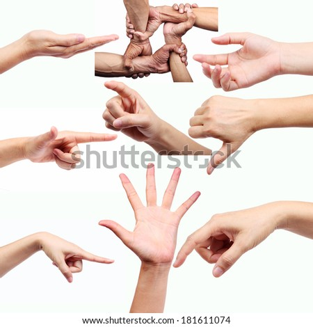 hand sign isolated on white background.