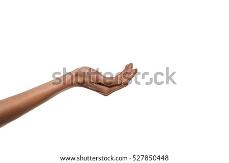 Hand sign - Palm offering or receiving