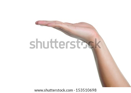 hand sign posture ignore in isolated - stock photo